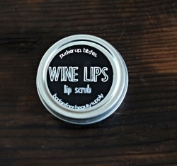 Wine Lips Lip Scrub. Natural Lip Scrub.